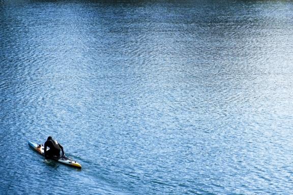 """Lone Paddler"" - Photograph"